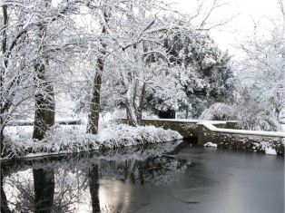 Nun's pond in winter